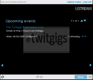 TWITGIGS - USTREAM